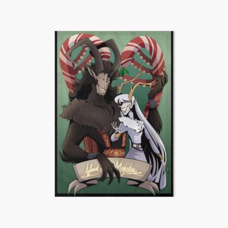 Krampus and Perchta  Art Board Print