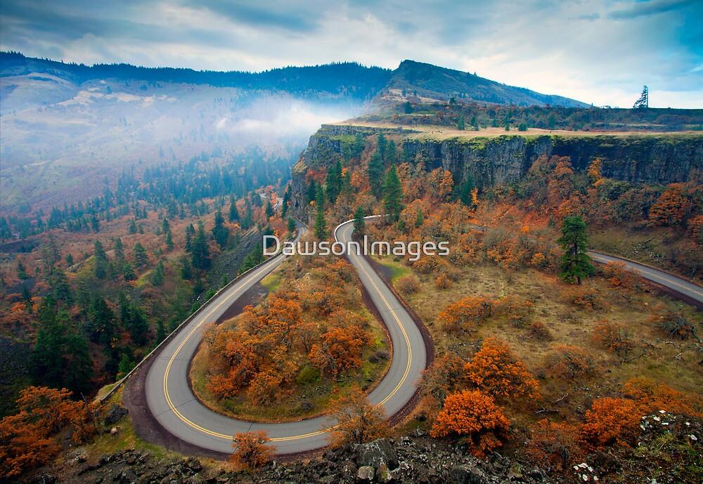 Autumn Hairpin Turn by DawsonImages