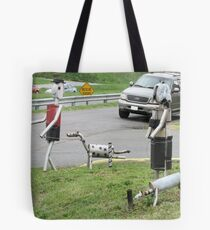 Walkin' The Dogs - Mineke Style Tote Bag
