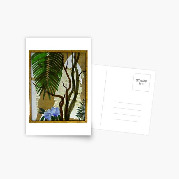 Bangalow Palm, Angophora and Native Hibiscus Postcard