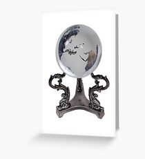 Crystal Europe Globe Greeting Card