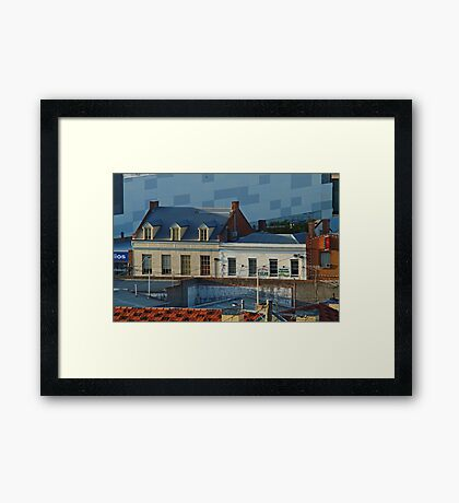 Over the Roof Tops, Geelong Framed Print