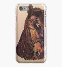 Dark Bay Dressage Horse iPhone Case/Skin