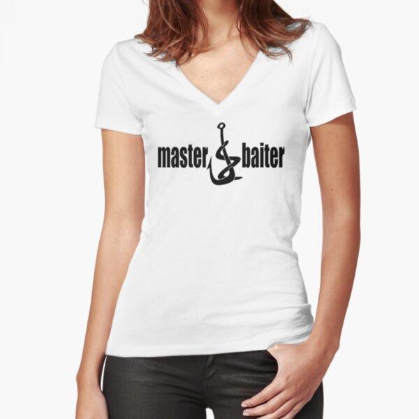 Master baiter Fitted V-Neck T-Shirt