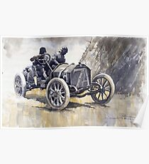 Isotta Fraschini 50HP 1908 Targa Floria  Poster