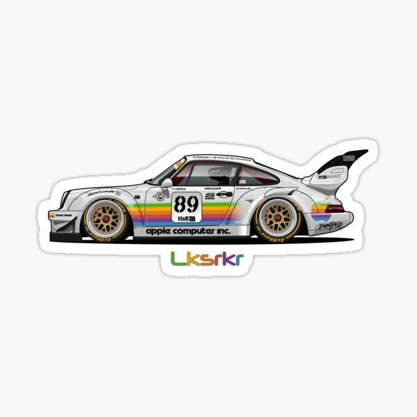 Oeuvre RWB Apple Porsche Sticker