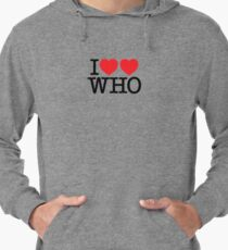 I ♥♥ WHO (light) Lightweight Hoodie