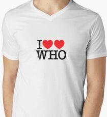 I ♥♥ WHO (light) Men's V-Neck T-Shirt