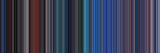 Moviebarcode: TRON (1982) [Simplified Colors] by moviebarcode