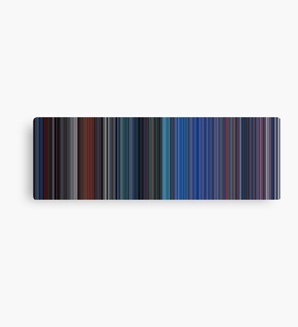 Moviebarcode: TRON (1982) [Simplified Colors] Canvas Print