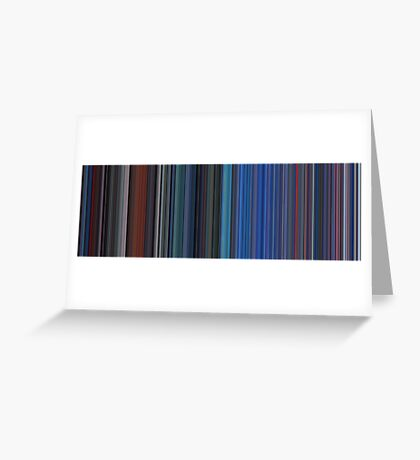 Moviebarcode: TRON (1982) [Simplified Colors] Greeting Card