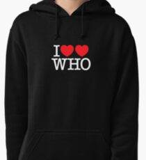 I ♥♥ WHO (dark) Pullover Hoodie