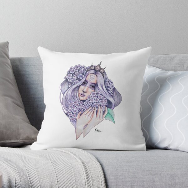Hydrangea Fairy Throw Pillow