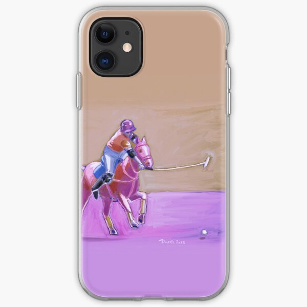 poloplayer taupe-lilac iPhone Flexible Hülle