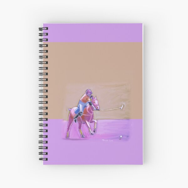 polo player taupe-lilac Spiral Notebook
