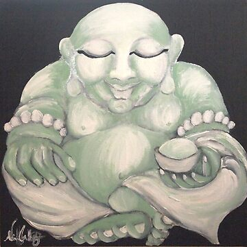 JADE LAUGHING BUDDHA by whittyart