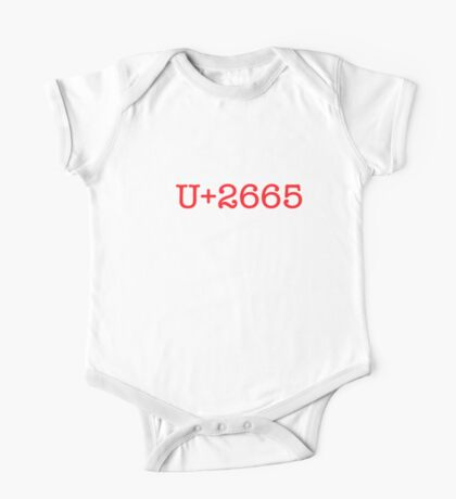 I U+2665 UNICODE (dark) Kids Clothes
