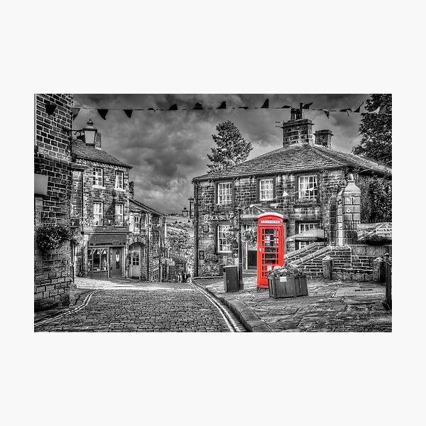 Haworth - Red Telephone Box Photographic Print