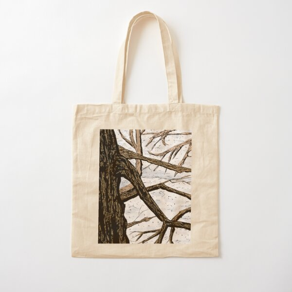 Tree Branches in a Snowscape Cotton Tote Bag