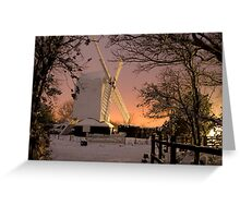 Oldlands Windmill in the snow - Hassocks Greeting Card