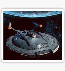 Star Trek the Original USS Enterprise Space Ship Near Earth Sticker