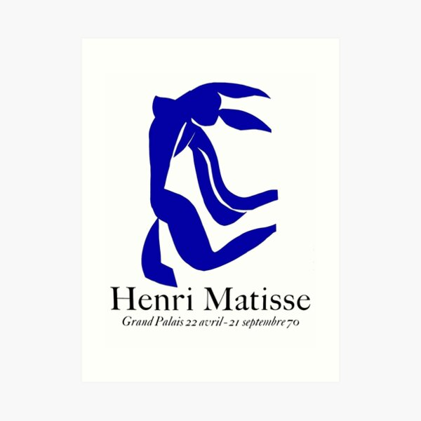 GRAND PALAIS Jahrgang 1970 Matisse La Chevelure Exponat Werbedruck Kunstdruck