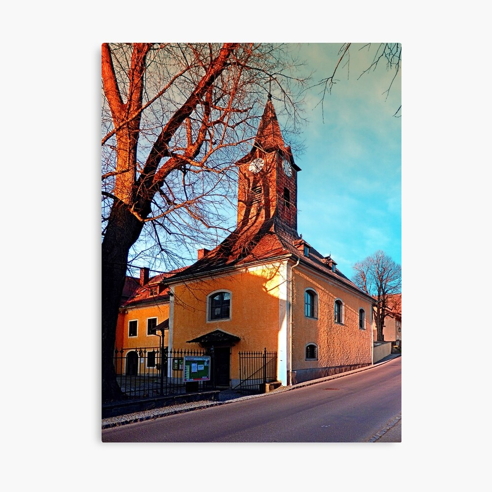 The village church of Waxenberg Canvas Print