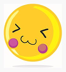 Cute emoticon Photographic Print