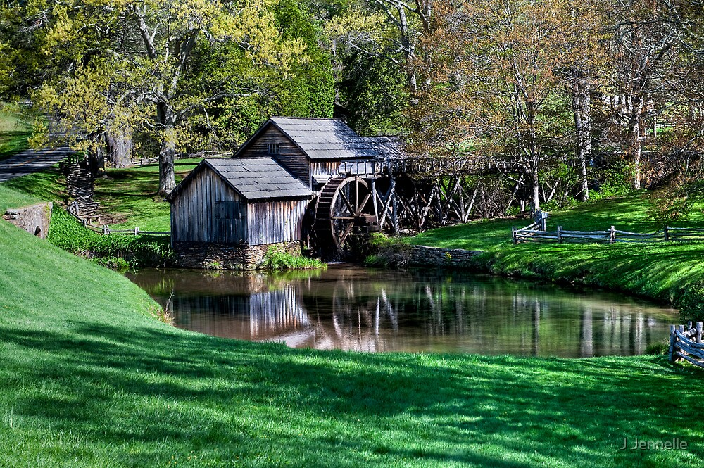 Mabry Mill First Day of Spring by Joe Jennelle