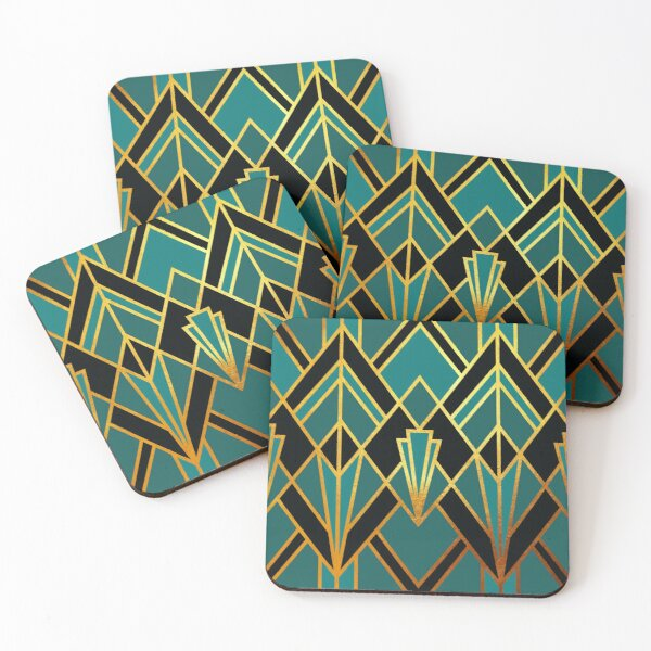 Art Deco Graphic No. 51 Coasters (Set of 4)