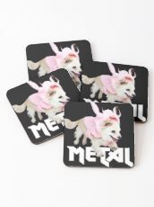 Not just perfect for Easter - Funny Metal Chihuahua Bunnies Design - Faith and Truth Coasters