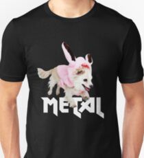 Not just perfect for Easter - Funny Metal Chihuahua Bunnies Design - Faith and Truth Slim Fit T-Shirt