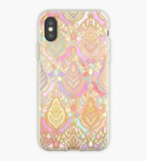 Rosy Opalescent Art Deco Pattern iPhone Case
