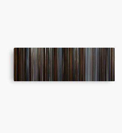 Moviebarcode: Inception (2010) Canvas Print