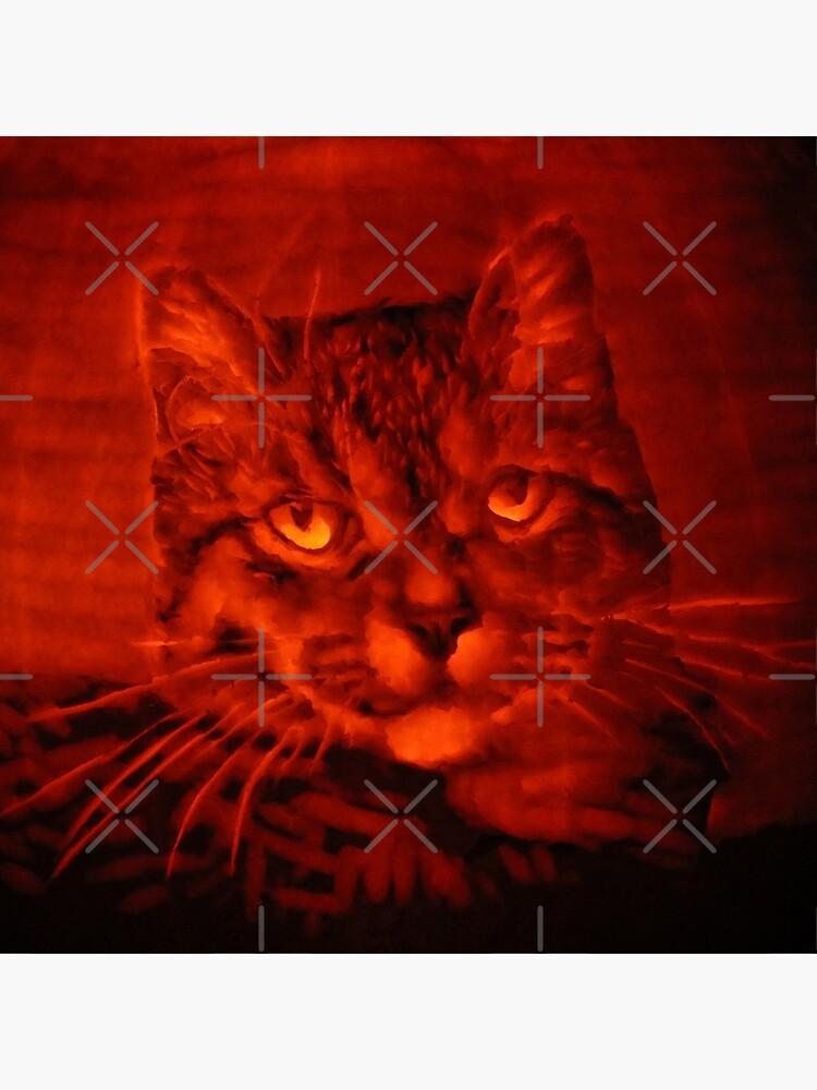 Tabby Cat on a Pumpkin 2 by MotiBlack