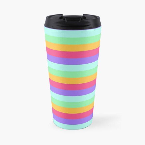 Unicorn Stripes Travel Mug