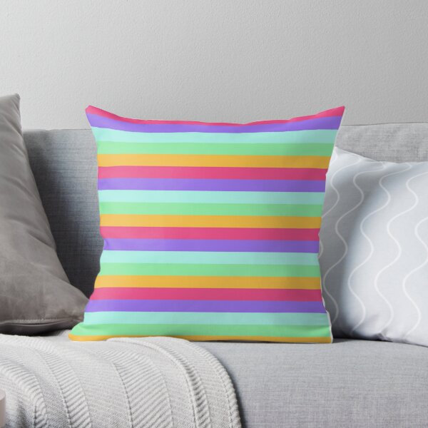 Unicorn Stripes Throw Pillow