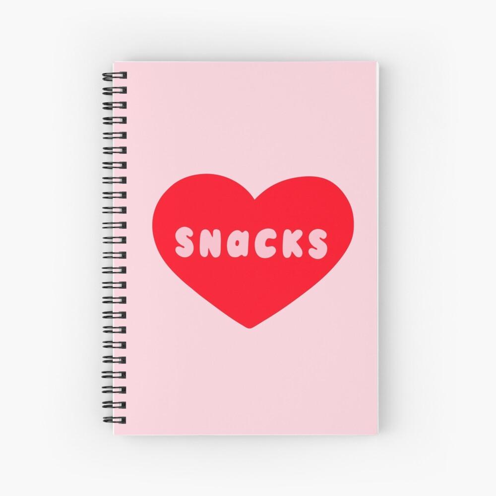 Love Snacks  Spiral Notebook