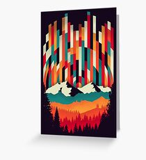 Sunset in Vertical  Greeting Card
