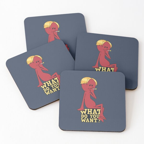 Red Meeseeks - What Do You Want? Coasters (Set of 4)