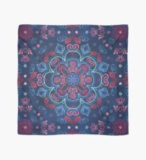 Kirsche Red & Navy Blue Aquarell Blumenmuster Tuch