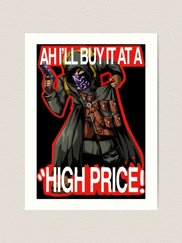 Resident Evil 4 Merchant Quotes 3 Red Outline Art Print By Lilflipjimmy Redbubble