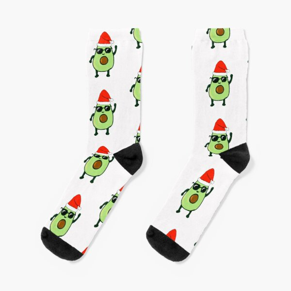 Avocado dances Christmas funny gift idea Socks