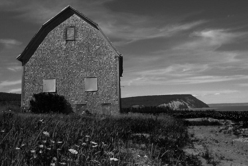Potato barn, Blomidon, Nova Scotia by Harv Churchill