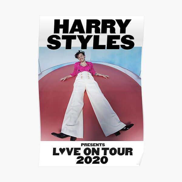 amor en gira 2020 harry presenta estilos cahpeko blanco Póster