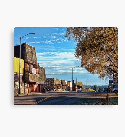 Downtown Columbia Falls (Montana, USA) Canvas Print
