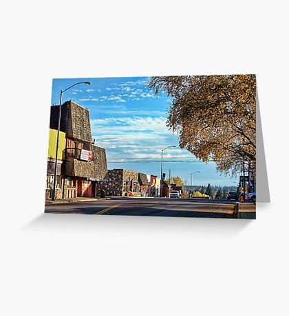 Downtown Columbia Falls (Montana, USA) Greeting Card