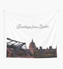 Greetings from London Wall Tapestry