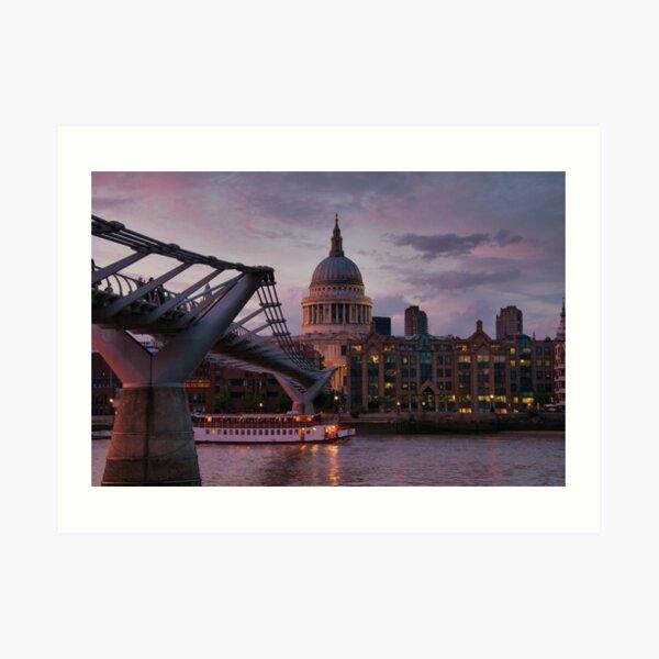Greetings from London Art Print