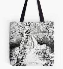 The Birch Maiden Tote Bag
